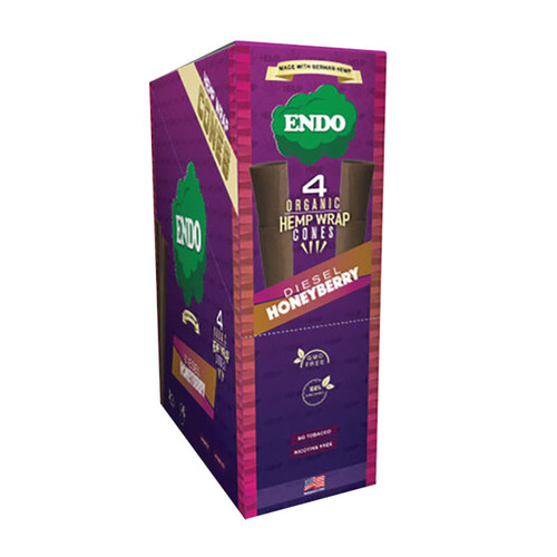 Endo Organic Hemp Wrap Cones Diesel Honeyberry 4pk 15pc