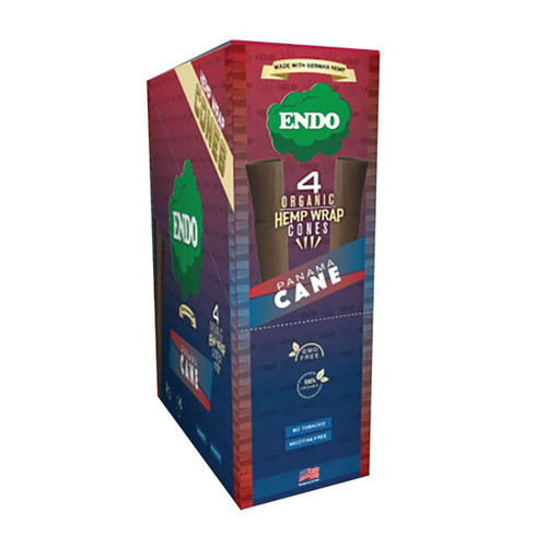 Endo Organic Hemp Wrap Cones Panama Cane 4pk 15pc