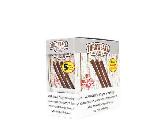 Throwback Natural Leaf Cigars 5Pk 40 Russian Cream