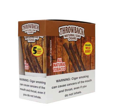 Throwback Natural Leaf Cigars 5Pk 40 Wild Berry