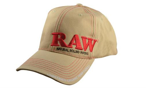 Tan RAW Hat with Poker