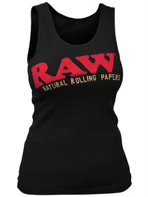 RAW Ladies Baby Rib Black Tank
