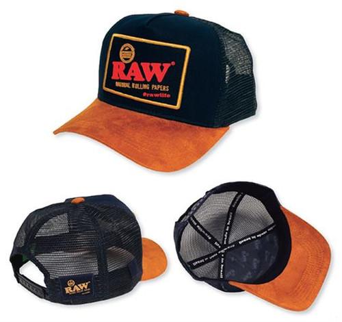 RAW Brazil Trucker cap Blue and Brown