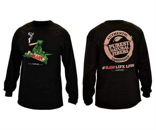 RAW Mens Black Long Sleeve Shirt