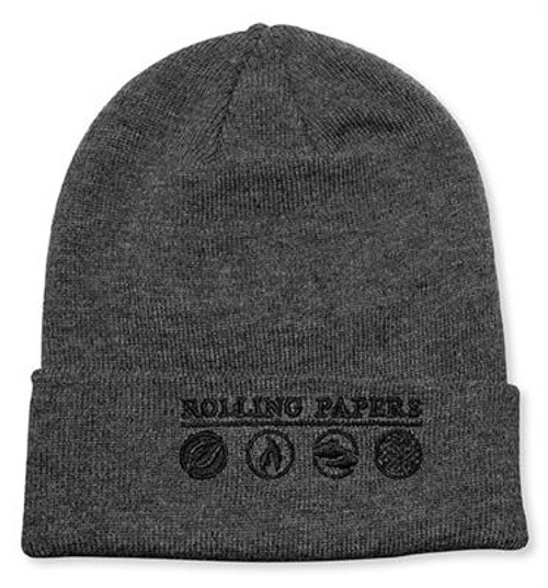 Rolling Papers Knit Hat Grey