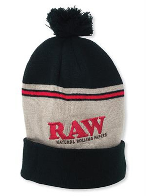 Rolling Papers X Raw Knit Hat Black and Brown