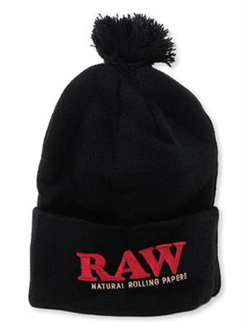 Rolling Papers X Raw Knit Hat Black