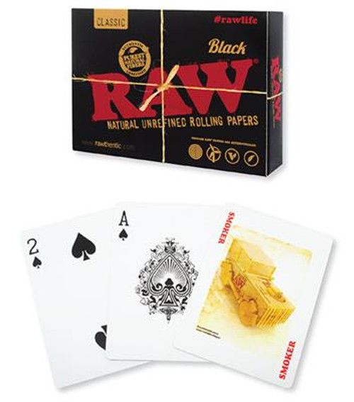 RAW Playing Cards Black