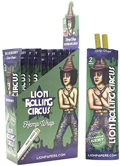 Lion Rolling Circus Hemp Wraps Blueberry 25/2