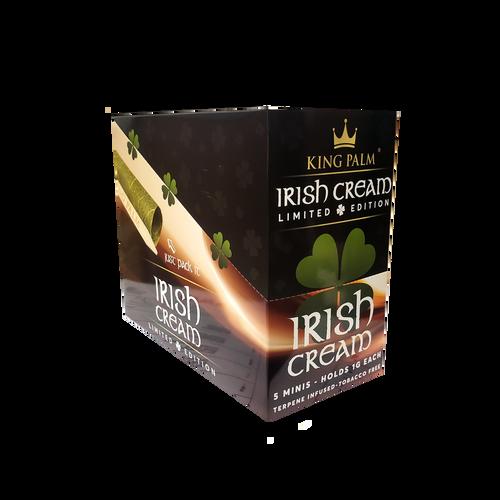 King Palm Limited Edition 5 Mini Rolls 15Pk Display Irish Cream