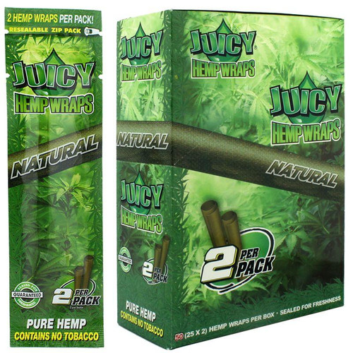 Juicy Jay  Hemp Wraps Natural 24Ct/2