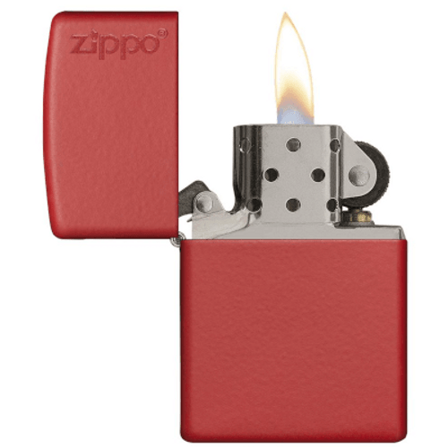 Zippo Red Matte W/ Zippo Logo