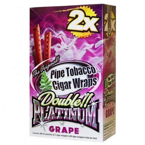 Double Platinum Blunt Wraps Grape 25/2 Ct