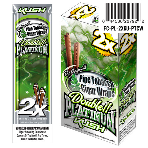 Double Platinum Blunt Wraps Kush 25/2 Ct
