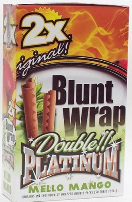 Double Platinum Blunt Wraps Mello Mango 25/2 Ct
