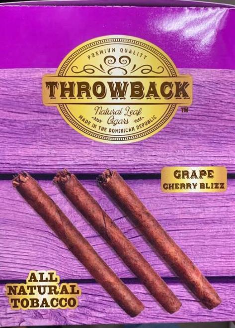 Throwback Natural Leaf Cigars Grape Cherry Blizz