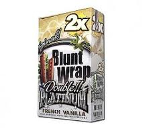Double Platinum Blunt Wraps French Vanilla 25/2 Ct