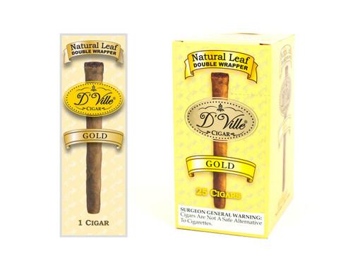 D'Ville Cigars Gold 25 Singles/Box