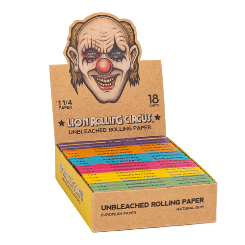 """Lion Rolling Circus Unbleached 11/4"""" Rolling Papers"""