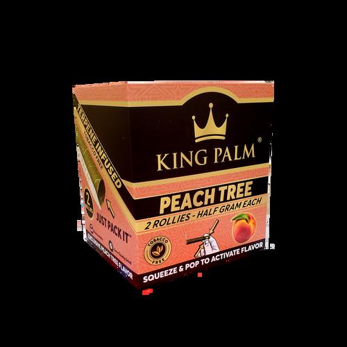 King Palm Wraps Rollies Peach Tree 20PK. Display