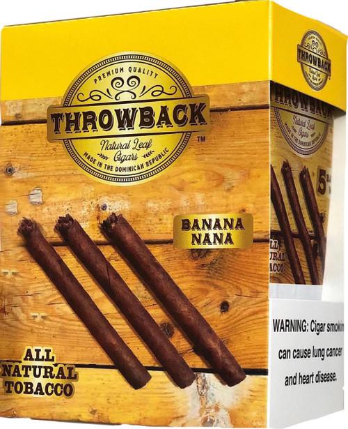 Throwback Natural Leaf Cigars Banana Box