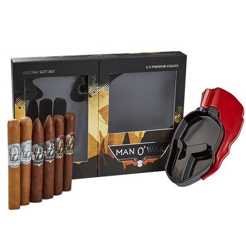 Man O' War Gift Box & Ashtray Cigars  Sampler