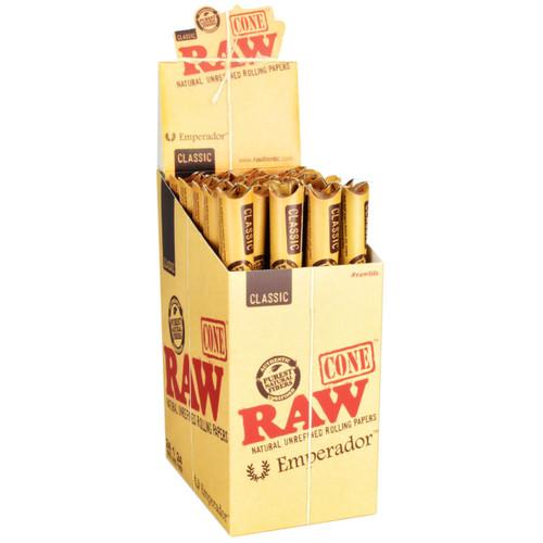 "RAW Classic 9"" Emperador Cones 24Pk"