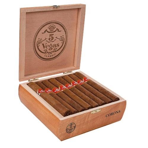 5 Vegas Classic Corona Cigars 25 Ct. Box