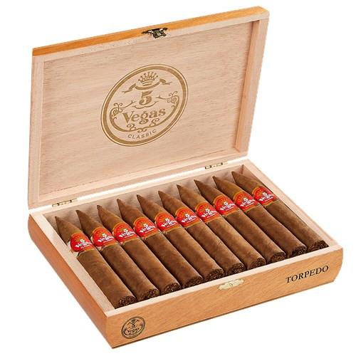 5 Vegas Classic Torpedo Cigars 20Ct. Box