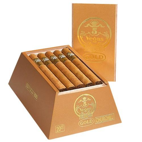 5 Vegas Gold Churchill Cigars 20Ct. Box