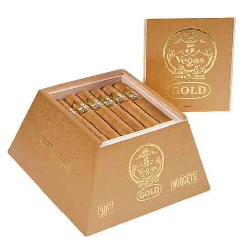 5 Vegas Gold Nuggets Cigars 30Ct. Box