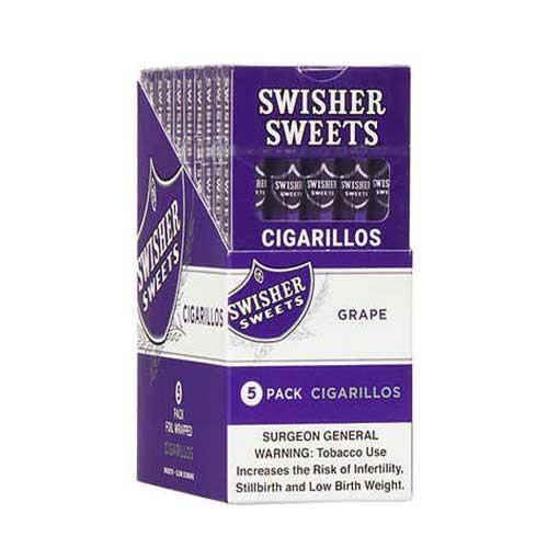 Swisher Sweets Cigarillo Grape 10 Packs of 5