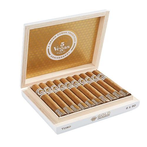5 Vegas Gold Anniversary Toro Cigars 20ct. Box