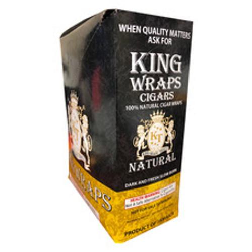 King Wraps Cigars Natural 25Ct. Box