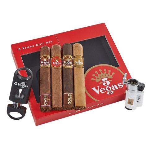 5 Vegas Gift Box + Lighter & Cutter Combo Cigar Sampler