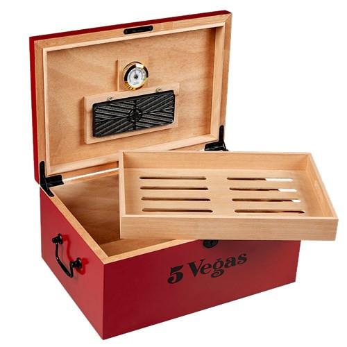 5 Vegas Tradicion Humidor 100 Cigar Capacity
