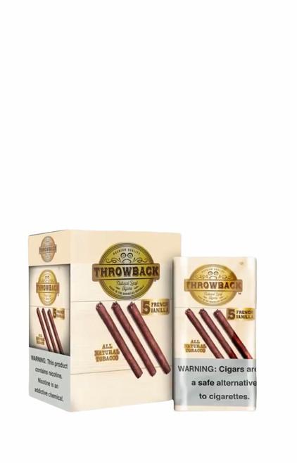 Throwback Natural Leaf Cigars French Vanilla Box