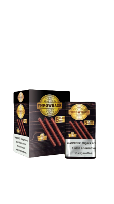 Throwback Natural Leaf Cigars Black Velvet  Box