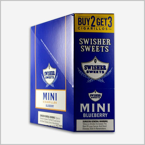 Swisher Sweets Mini Cigarillos Foil Blueberry 15/3
