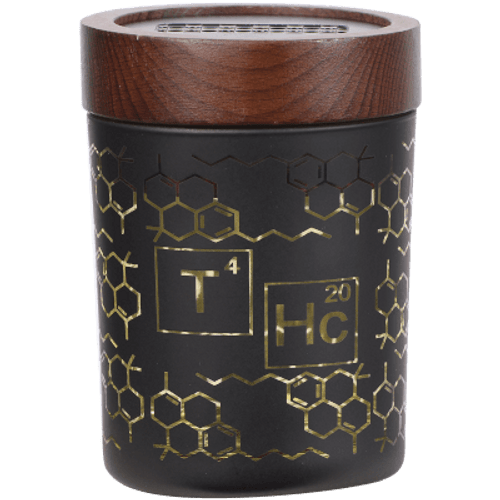 "V Syndicate Smartstash THC Elemental Yellow Medium 4"" Container"