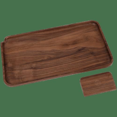 Marley Natural Black Walnut Wood Large Rolling Tray