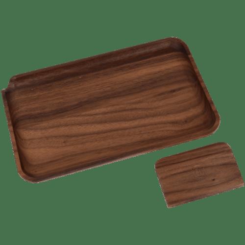 Marley Natural Black Walnut Wood Small Rolling Tray