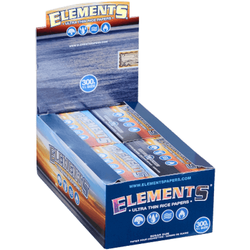 Elements Ultra Thin Rice Rolling Papers 1 ¼ 300 20 Ct. Box