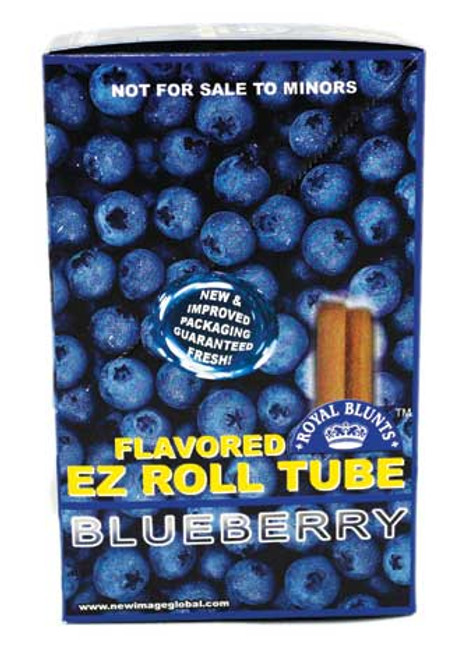 Royal Blunts EZ Roll Wraps Tube Blueberry 25ct Box