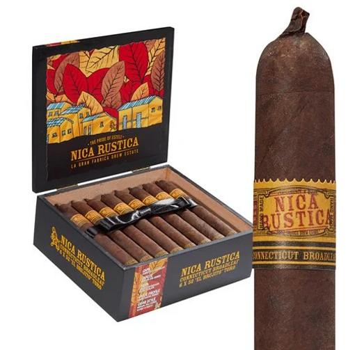 Nica Rustica Broadleaf El Brujito Cigars 25 Ct Box