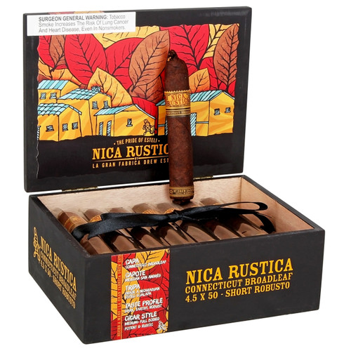 Nica Rustica Broadleaf Short Robusto Cigars 25 Ct Box