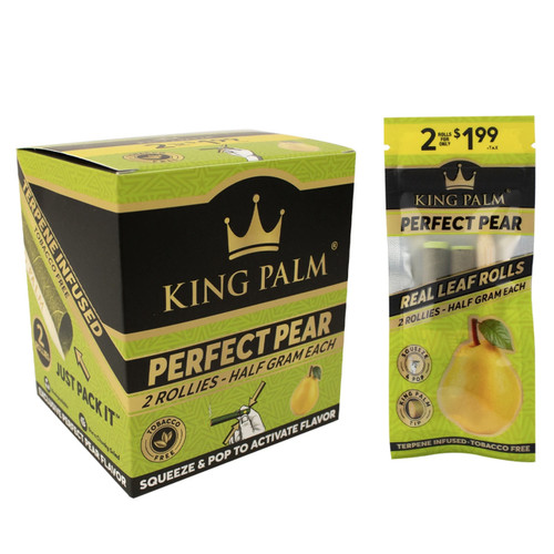 King Palm Perfect Pear Wraps  2 Rollie Rolls 20ct Box