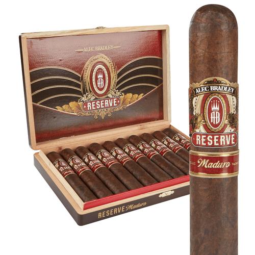 Alec Bradley Reserve Maduro Torpedo Cigars 10Ct. Box