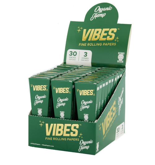 Vibes Organic Hemp King Size Cones