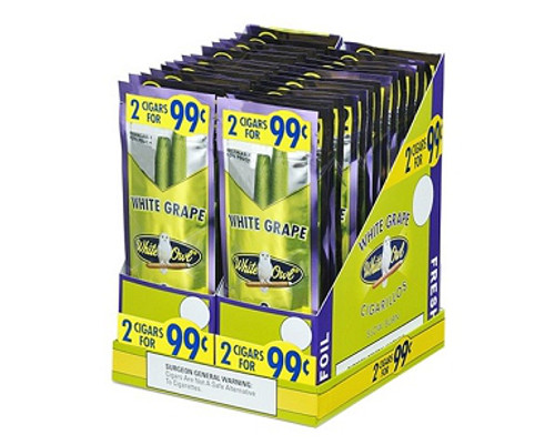White Owl Cigarillos White Grape 30 Pouches of 2